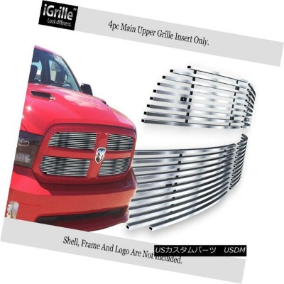 USグリル Fits 2013-2017 Ram 1500 Stainless Steel Billet Grille Grill Inserts 2013-2017ラム1500ステンレス鋼ビレットグ...