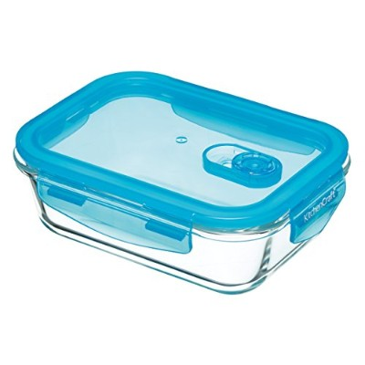 (600 ml (1 Pint), Rectangular) - KitchenCraft Pure Seal Airtight Glass Food Container / Oven Dish,...