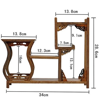 (1) - NWFashion Chinese Wooden Assemble Display Stand Home Decoration Curio Cabinets Shel (1)