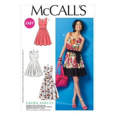 "McCall Pattern Company M6955 Misses' Dresses and Belt, Size A5 ""6-8-10-12-14"" by McCall Pattern..."