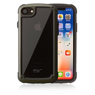 【ROOT CO.】 iPhone8 iPhone7 衝撃吸収 ケース Gravity Shock Resist Tough & Basic Case. (カーキ)