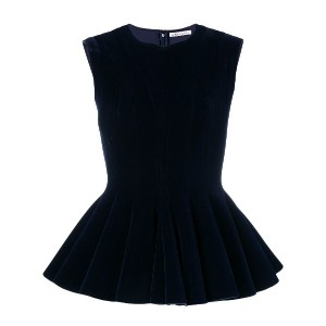 Stefano Mortari peplum top - ブルー