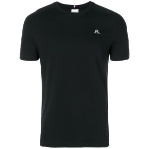 Le Coq Sportif logo embroidered T-shirt - ブラック