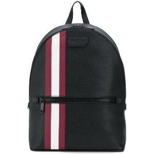 Bally striped backpack - ブラック