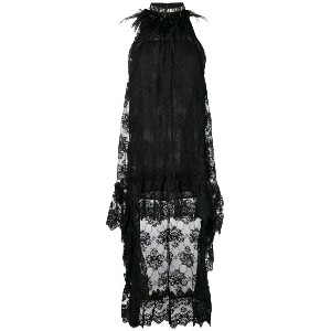 Christian Pellizzari lace halterneck dress - ブラック