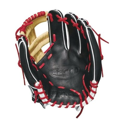 ウィルソン Wilson ユニセックス 野球 グローブ【2018 A2000 11.75 Inch Right Hand Throw Baseball Glove】Black/Red