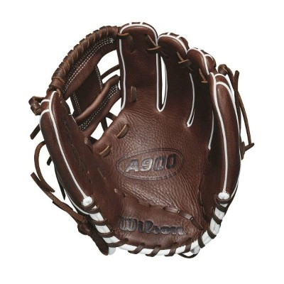 ウィルソン Wilson ユニセックス 野球 グローブ【2018 A900 11.5 Inch Right Hand Throw Baseball Glove】Dark Brown