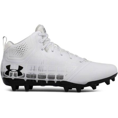 アンダーアーマー Under Armour メンズ ラクロス シューズ・靴【Banshee Ripshot Lacrosse Cleat】White/Black