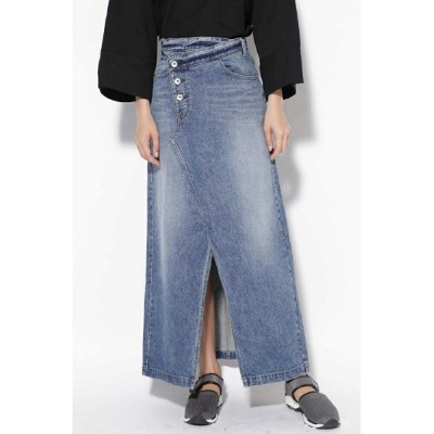 [Rakuten BRAND AVENUE]CROSS WAIST LONG DENIM SKIRT ROSE BUD ローズバッド スカート【送料無料】