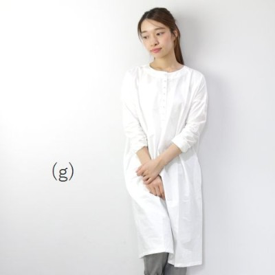 (g) グラムCOTTON DYED PLAIN TUNIC made in Japan g-008