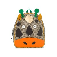 Gucci Kids cow design backpack - ブラウン
