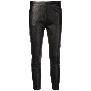 Almaz snakeskin effect cropped leggings - ブラック