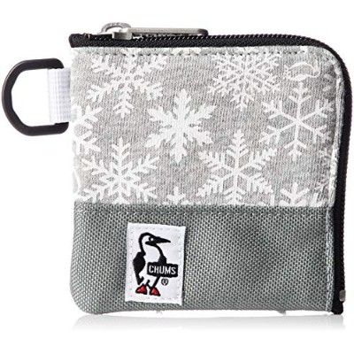 [チャムス]財布 Square Coin Case Sweat Nylon Snowflake