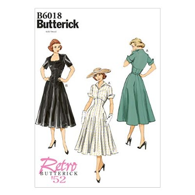 Butterick Patterns B6018A50 Misses' Dress Sewing Template, Size A5 (6-8-10-12-14) by BUTTERICK...