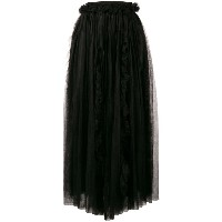 Ermanno Scervino asymmetric flared midi skirt - ブラック