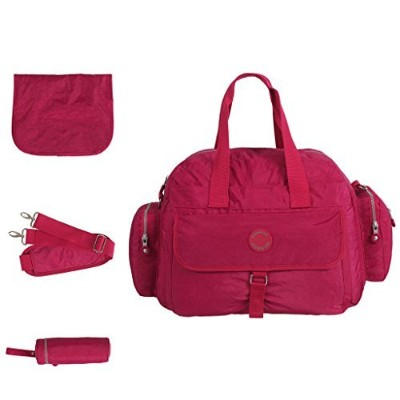 LCY Large Capacity 3 Piece Tote Diaper Bag Set Pink by LCY