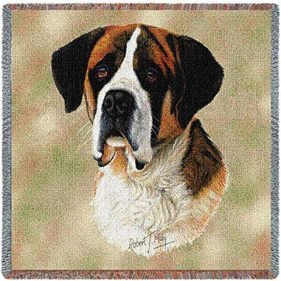 Pure Country 1133-LS Saint Bernard Pet Blanket, Canine on Beige Background, 54 by 54-Inch by Pure...