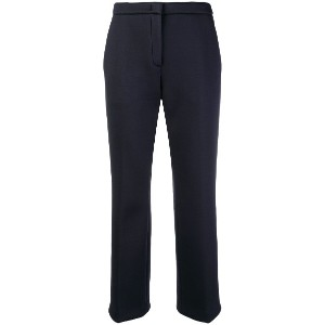 No21 cropped slim-fit trousers - ブルー