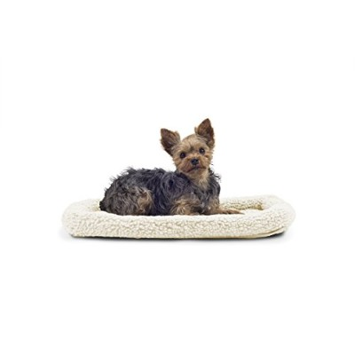 NAP Pet Bed Sherpa Faux Lambswool Bolster Pet Bed, X-small Fits 13 x 22 by Furhaven Pet