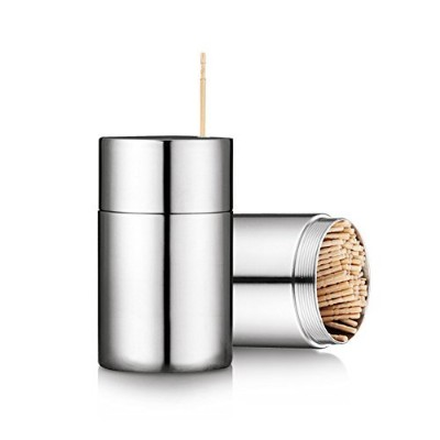 Toothpick Holder Dispenser Stainless Steel with 300 Toothpicks
