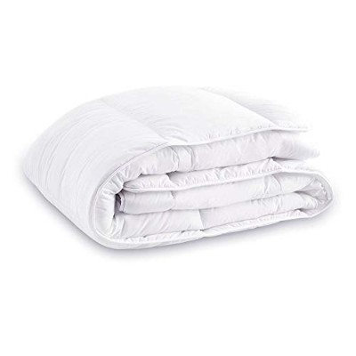 Equinox Thin Duvet Insert (220cm x 220cm) - White, All Season Down Alternative Comforter Insert,...