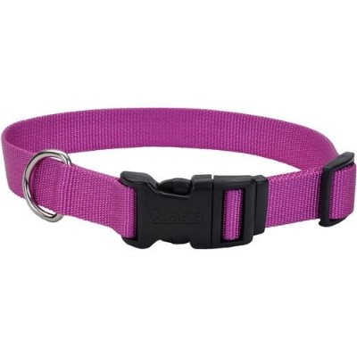 Tuff Buckle Adjustable Nylon Collar - Orchid - 3/4 (14 to 20 neck) by Coastal Pet