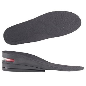 Y2C Men's 3-Layer Height Increase Elevator Shoes Insoles (approx 2.4 inches) Black 7.5-11.5 and Random Gift by Y2COMMERCE