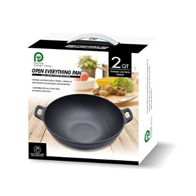 2qt Cast Iron OPEN Everythingパン