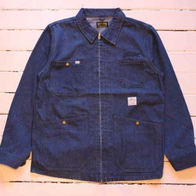 """SEVENTY FOUR""""WASHED DENIM COVER ALL JACKET""""【SEVENTY FOUR】(セブンティーフォー)正規取扱店(Official Dealer)Cannon..."""