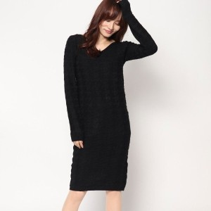 【SALE 28%OFF】ロイヤルパーティー プロデュースド バイ ルーミィーズ ROYAL PARTY produced by Roomy's OUTLET 千鳥編みニットタイトワンピース ...