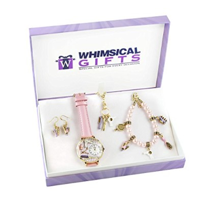 (Beautician Gold) - Whimsical Gifts Profession 4-piece Jewellery Sets