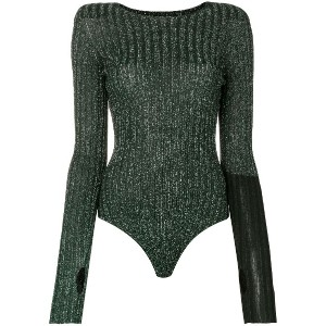 Circus Hotel lurex knitted body - グリーン