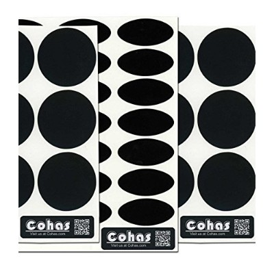 (Refill Kit, No Marker) - Cohas Chalkboard Labels Combo Pack for Small 120ml Jelly Jars includes No...
