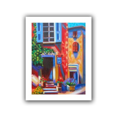 "ArtWall""Cafe Tino"" Unwrapped Canvas Art by Susi Franco, 40 x 52インチ"