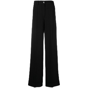 Pt01 high-waisted palazzo trousers - ブラック