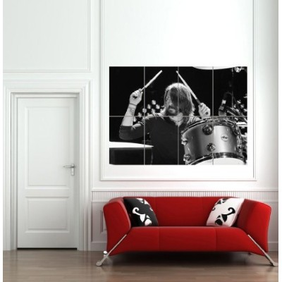 Dave Grohl Drummer Guitarist Singer Foo Fighters Nirvana Giantポスター印刷b868 33 inch x 46.8 inch 004414...