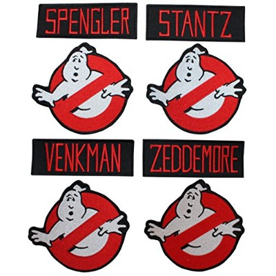 Lot of 8 Ghostbusters Name Tags & No Ghost Sign Logo Applique Patches by Cool-Patches