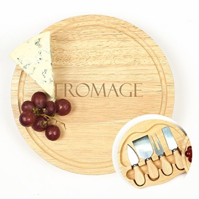 Cathy's Concepts Fromage Gourmet 5pc Cheese Board Set with Utensils