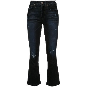 R13 ripped skinny flared jeans - ブラック