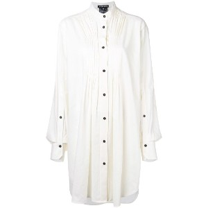 Ann Demeulemeester pleated detailed tunic - ホワイト