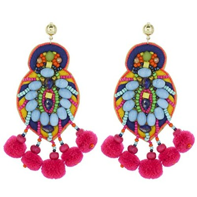 Prime Jewels Multicolor Fiesta Statement Earrings Dangle Drop Women Gift