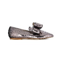 Polly Plume sequin embellished loafers - メタリック