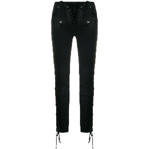 Unravel Project tied detail skinny jeans - ブラック