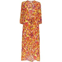 Adriana Degreas Flower and Fruit Printed Belted Robe - マルチカラー