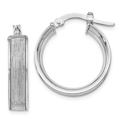 Beautiful White gold 14K Leslie's 14K White Gold Glimmer Hoop Earrings comes with a Free Jewelry...