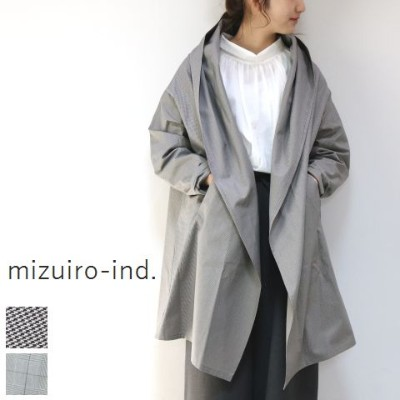 △△ mizuiro ind (ミズイロインド)mizuiro-ind.check flared C/D 2colormade in japan3-277819【■】