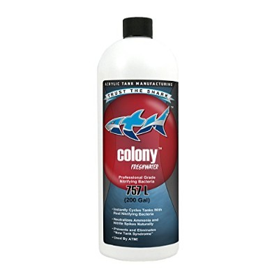 ATM Blue Shark Animal Planet Tanked Colony Nitrifying Bacteria Freshwater for Aquarium, 32-Ounce by...