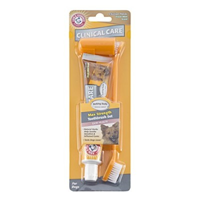 Arm & Hammer Clinical Pet Care Dental Gum Health Kit for Dogs | Contains Toothpaste, Toothbrush &...