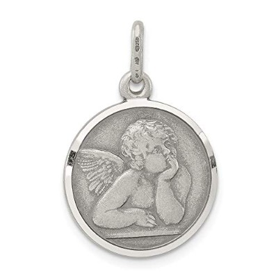 Beautiful Sterling silver 925 sterling Sterling Silver Antiqued Raphael Angel Charm comes with a...