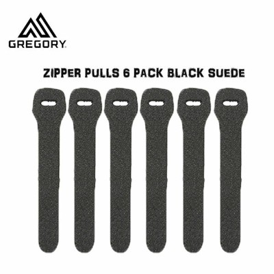 GREGORY(グレゴリー) ZIPPER PULLS 6 PACK BLACK SUEDE (LRG) ジッパープルL ブラック /654460447 (N) (G20)